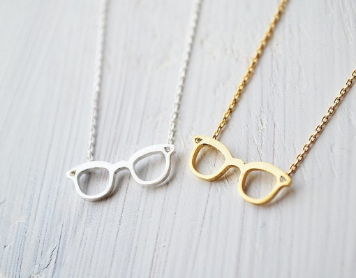 Glasses Pendant Necklace