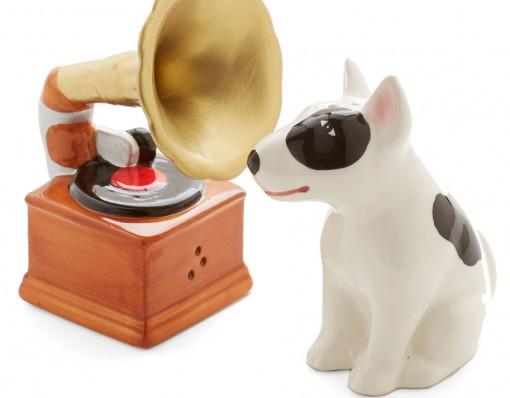 Dog & Phonograph Shaker Set