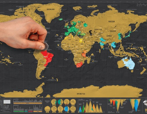 Foil Scratch Map