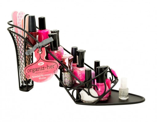 Jeweled Shoe Shaped Nail Polish Holder