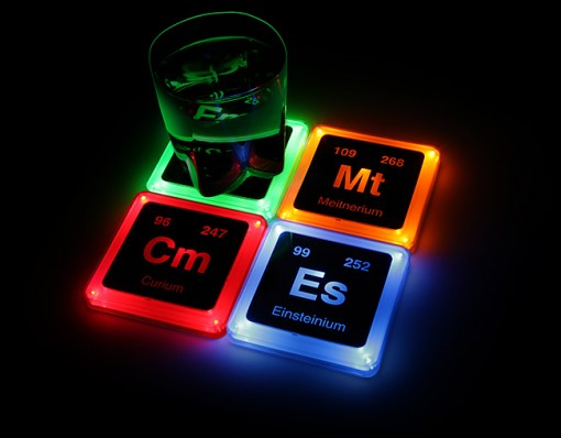 Radioactive Elements Glowing Coaster Set