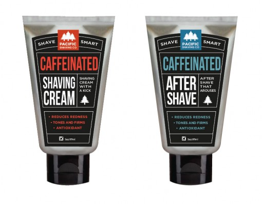 Caffeinated Shaving Cream & Aftershave