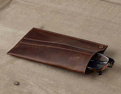 Leather Eyeglass Simple Slip Case