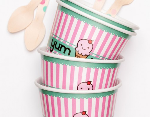 Pink Olive Ice Cream Set